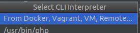 Select CLI Interpreter