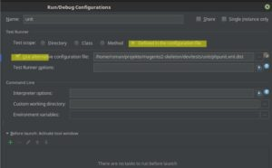 Create Run/Debug Configuration