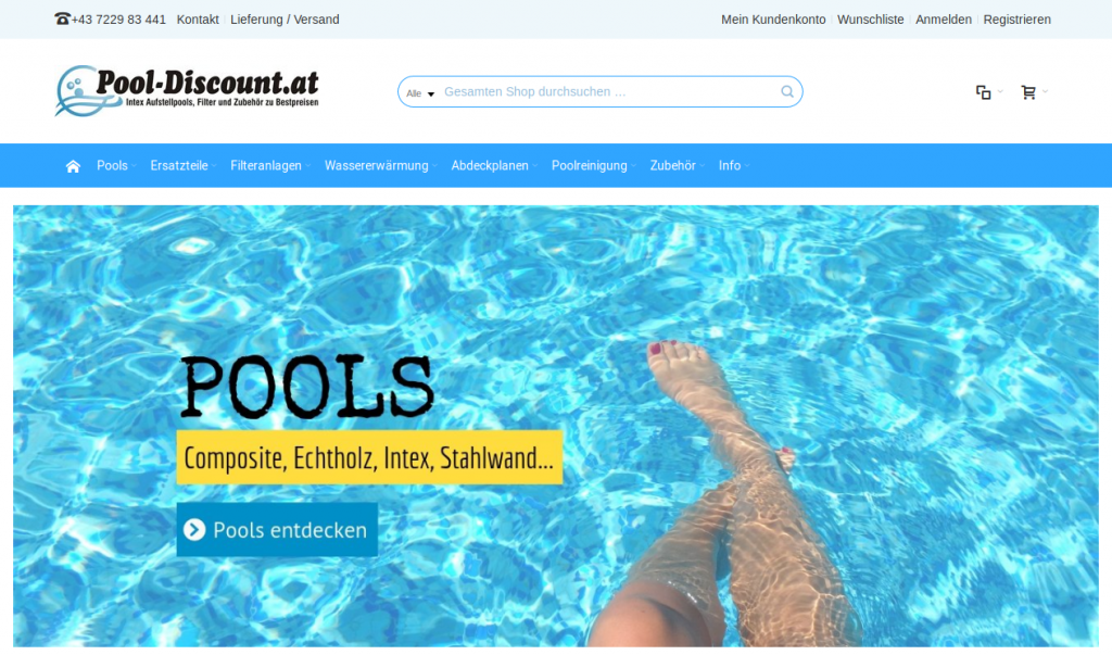 pooldiscount startseite screenshot