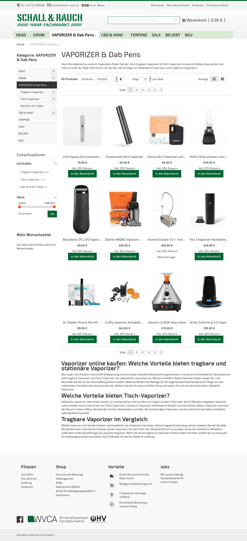 schall-rauch screenshot produkt-liste